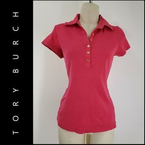 Tory Burch Woman Fitted Polo Blouse Top Size XS